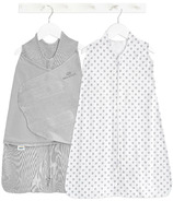 HALO Organic Gift Set Swaddle And Sleepsack Cloud Solid And Dot