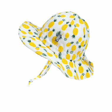 Jan & Jul Cotton Floppy Hat Yellow Pineapple