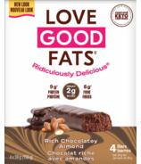 Love Good Fats Barres aux Amandes Riches Chocolatées