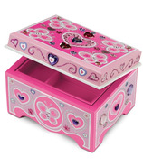 Melissa & Doug Decorate-Your-Own Wooden Jewelry Box
