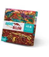 Crocodile Creek 48-Piece Above & Below Puzzle Dinosaur World