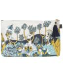 Danica Studio Large Linen Cosmetic Bag Birdland