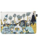 Danica Studio Grand sac à cosmétiques en lin Birdland