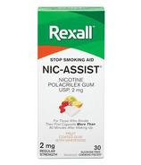 Rexall Nic-Assist Nicotine Gum Regular Strength 2 mg Fruit