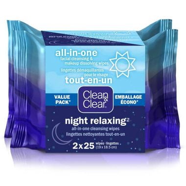 Clean & Clear Day Or Night Wipes Value Pack