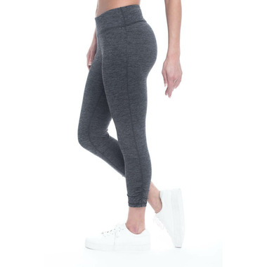 Gaiam Om Yoga Capri Charcoal Heather