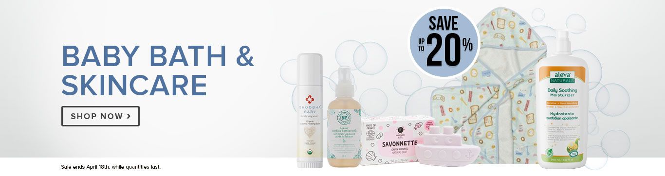 Save up to 20% on select Baby Bath & Skincare