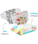 The Honest Company Into the Wild & Panda Diapers & Wipes Bundle Size 4