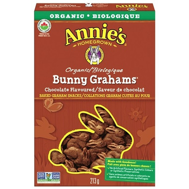 Annie\'s Homegrown Organic Chocolate Bunny Grahams