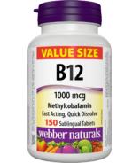 Webber Naturals Vitamin B12 Methylcobalamin 1000mcg Value Size