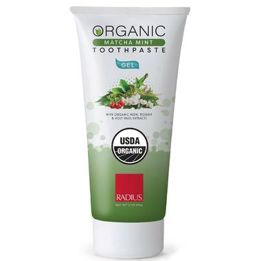 Radius USDA Organic Matcha Mint Gel Toothpaste