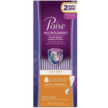 Poise Lightest Absorbency Incontinence Microliners