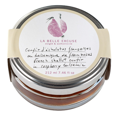 La Belle Excuse French Shallot Confit in Raspberry Vinegar