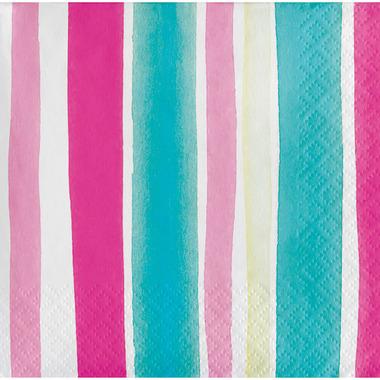 Elise Tropical Beverage Napkin Stripes