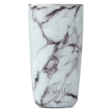 S\'well White Marble Stainless Steel Insulated Tumbler Cup