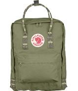 Fjallraven Kanken Backpack Green & Folk Pattern
