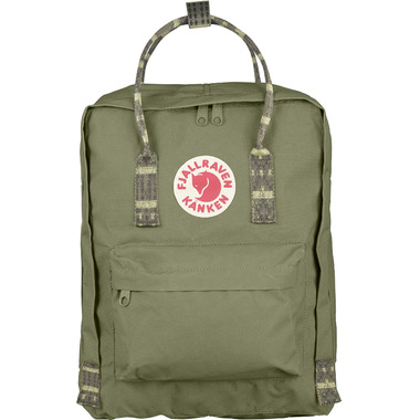 Fjallraven Kanken Backpack Green & Folk Pattern