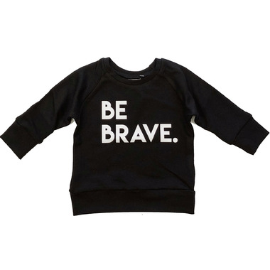 Posh & Cozy Crewneck Sweater Be Brave Black XS-M