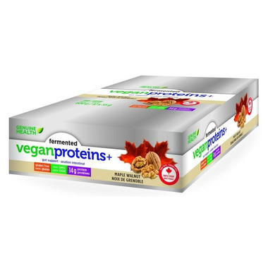 Genuine Health Fermented Vegan Proteins+ Bar Case Maple Walnut
