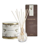 Illume Woodfire Candle & Diffuser Bundle