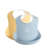 BabyBjorn Baby Bibs Powder Yellow & Powder Blue