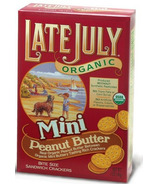 Late July Organic Peanut Butter Mini Sandwich Crackers