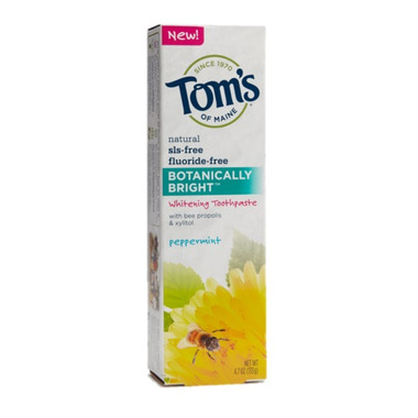 Tom\'s Of Maine Botanically Bright Whitening Toothpaste Peppermint