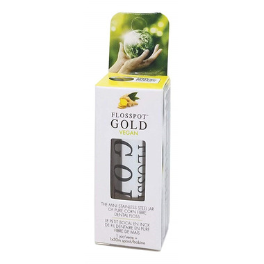 KMH Touches Flosspot Gold Vegan Dental Floss