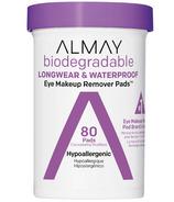 Almay biodégradable longue tenue et tampons démaquillants pour les yeux imperméables à l'eau