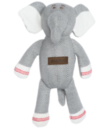 Juddlies Cottage Collection Organic Rattle Elephant Driftwood Grey