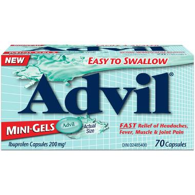 Advil Mini-Gels Ibuprofen 200mg 70 Capsules