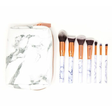 Zoe Ayla Marble Effect Makeup Brush Set