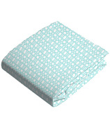 Kushies Flannel Fitted Crib Sheet Octagon Turquoise