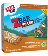 Clif Kids Organic Zbar Filled Double Peanut Butter