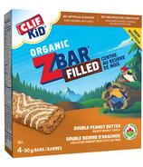 Clif Kids Organic Zbar Filled Double Peanut Butter