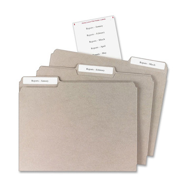 Avery Mini-Sheet Laser/Inkjet File Folder Labels