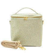 SoYoung Lunch Poche with Braided Strap Sage Green Linen
