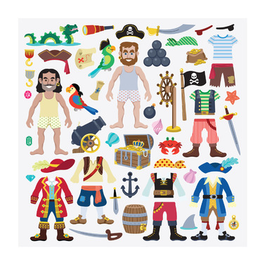 Melissa & Doug Puffy Reusable Stickers Play Set Pirate