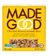 MadeGood Barres granola bio au chocolat et à la banane