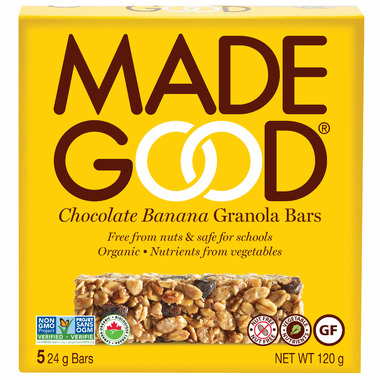 MadeGood Chocolate Banana Organic Granola Bars