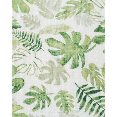 Little Unicorn Cotton Muslin Swaddle Blanket Tropical Leaf