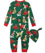 Hatley Green Combinaison et chapeau de bébé jappant de Noël