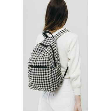 Baggu Ripstop Backpack in Black Gingham