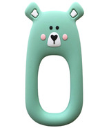 Little Cheeks Bear Silicone Teether Mint