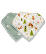 Loulou Lollipop Muslin Bandana Bib Set Forest Friends