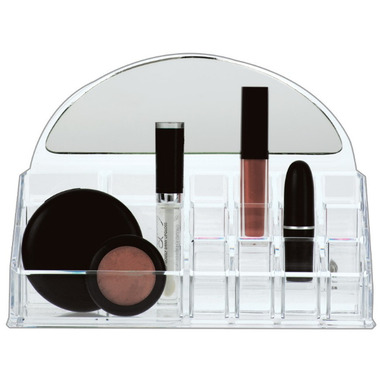 Danielle Creations Acrylic Organizer with Half Moon Mirror