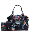 Herschel Supply Strand Sprout Tote with Change Mat Summer Floral Black