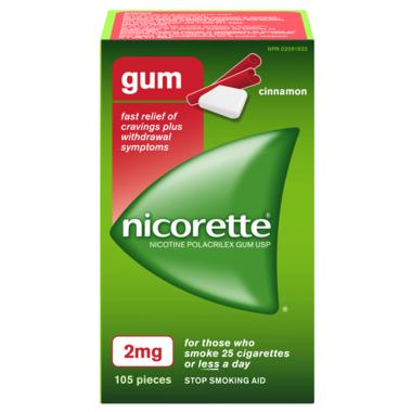 NICORETTE Gum Cinnamon 2mg