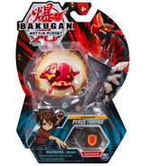 Bakugan Pyrus Trhyno Collectible Action Figure and Trading Card
