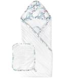 Nest Designs 9 Layer Organic Cotton Hooded Baby Towel Wrap Hummingbird